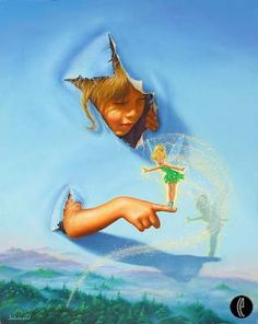 Disney Fine Art - Making Friends. Tinkerbell. Biggs Ltd. Gallery. Heirloom quality bridal, art, baby gifts and home decor. 1-800-362-0677. $625.