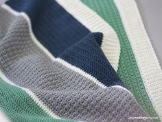 Henry's Baby Blanket Crochet Pattern | Free modern baby blanket crochet pattern by Little Monkeys Crochet