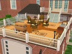 flat roof additions with deck on top - Google Search
