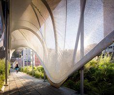 Zaha Hadid diseña túnel de tela en Nueva York