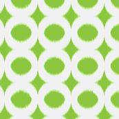 Grass Circle Ikat fabric for bedskirt