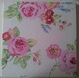 Clarke and Clarke English Rose chintz fabric picture # shabby chic