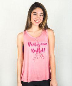 Parlez-vous Ballet? Pink Swing Tank