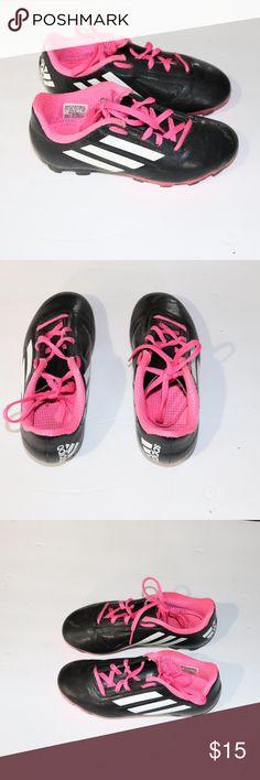 fc63360ed22 Adidas Black Pink Kid Footie Soccer Cleats Size 1 Adidas Black Pink Kid  Footie Soccer Cleats