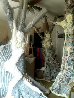 #NakedTrees in the studio...surrounded by them all in partial completion.