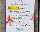 8 x 10 Whimsical Art Print Breathe In Your Own Truth