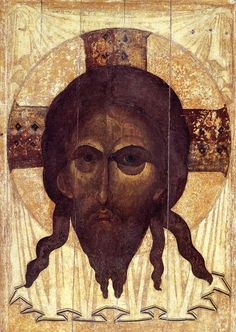 """""""The Savior"""" by Andrei Rublev, 1360, Andrei Rublev Museum, Moscow"""