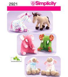 Simplicity Pattern 2921-Stuffed Animals-One Size & Craft Patterns at Joann.com
