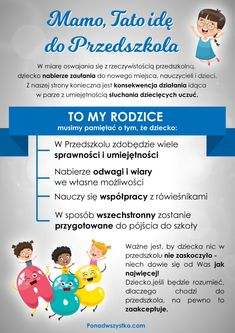 Adaptacja - Mamo, tato idę do przedszkola! - Ponad Wszystko Kids And Parenting, Montessori, Hand Lettering, Preschool, Education, Baby, Speech Language Therapy, Therapy, Handwriting