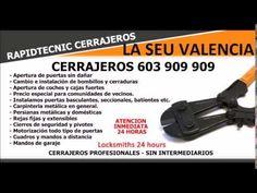 CERRAJEROS LA SEU VALENCIA 603 909 909