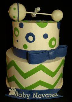 chevron baby shower decorations | chevron baby shower cakes | Baby shower ideas / Chevron Baby Shower ...