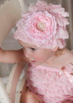 【楽天市場】ベビーレースビーニー帽子☆ピンク♪:ベビー&ウェディング ミシア