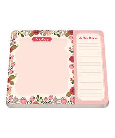 This Sweet Garden Two-Section Notepad by Studio Oh! is perfect! #zulilyfinds