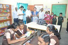 Children#enjoying#books#provided by #ThinkSharp Foundation's#StudyMall#at #varangaon#Jalgaon district. ..