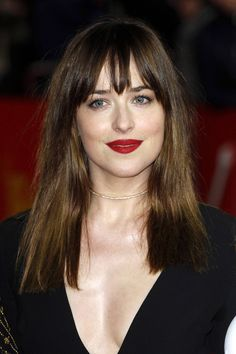 dakota johnson Picture 76 - Berlin International Film Festival - Fifty Shades of Grey Premiere - Arrivals Dakota Johnson Stil, Estilo Dakota Johnson, Dakota Mayi Johnson, Hair Inspo, Hair Inspiration, Hairstyles With Bangs, Cool Hairstyles, Corte Y Color, Fifty Shades Of Grey