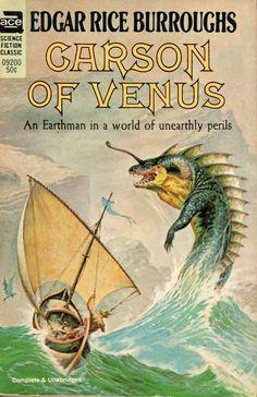 Carson of Venus - Edgar Rice Burroughs, cover by Frazetta
