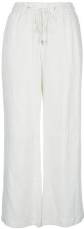 NY Collection Linen Pants WHITE Large NY Collection. $32.40