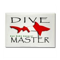 Dive Master of Scuba Diving with BullShark Dive Flag. More Products with this design. Just follow the link.