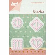 """Joy!Crafts Schneide- und Prägeschablone 0224, """"Buckles - Gürtelschnallen"""", mit Schlitzen zum Durchziehen: Amazon.de: Alle Produkte"""