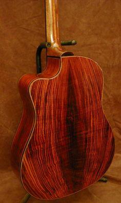 John Kinnaird cocobolo guitar
