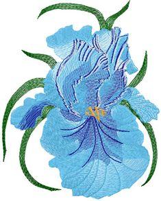 Big blue flower free embroidery design 22 - Flowers free machine embroidery designs - Machine embroidery community