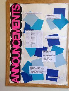 Announcements Bulletin Board