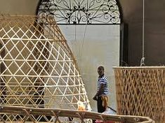 Bamboo WarkaWater tower harvests potable water from air - Green Prophet Water From Air, Water Traps, Weaving Art, Sustainable Development, West Africa, Fresh Water, Life Is Good, Harvest, Contemporary Art