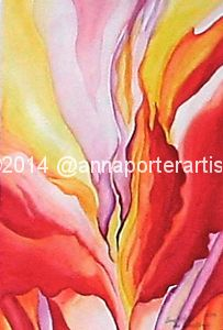 Original watercolor painting by Anna Porter Artist after Georgia O'Keefe. It is available for purchase on my website at: http://annaporterartist.com/works/962350/floral-study-after-georgia-okeefe   #art #fineart #watercolor #painting #abstract #afterGeorgiaOKeefe #abstractart #modernart #reproduction #artist #annaporterartist. #annaporterart #annaporter