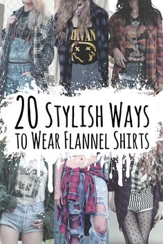 Get a look at this 20 Stylish Ways to wear Flannel Shirts. Perfect for this fall! Read the article here: http://ninjacosmico.com/20-ways-flannel-shirts/