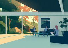 пример минималистичного изображения пространства