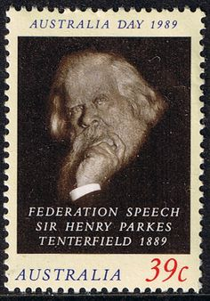 1986 Australia Day Sir Henry Parkes Fine Mint SG 1168 Scott 1105  Other Australian Stamps HERE