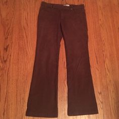 Zara brown pants Denim brown Zara TRF pants.  Button off one pocket in back Zara Jeans Ankle & Cropped
