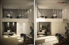 Office project: Studio in stile in stile Moderno di P3dretti Divider, Studio, Room, Furniture, Home Decor, Trendy Tree, Bedroom, Decoration Home, Room Decor