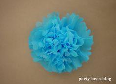 DIY kiddie party idea 22 お花紙でつくるフラワーバリエーション♪ | おうちでキッズパーティしよう♪kids party creater MOMMYがお届け《party bees blog》 Diy Kiddie Party Ideas, Ideas Para Fiestas, Birthday Design, Projects To Try, Birthdays, Flowers, Crafts, Hula Hoop, Loom