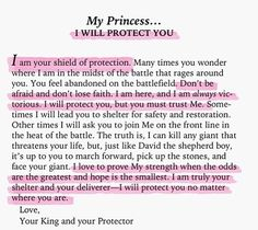 My princess......I will protect you
