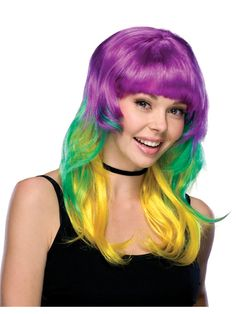 /Womens Carnival Wig Approximately 50/cm long//Carnival Themed Parties and Shows/ /Assorted Colours Brand Sseller/