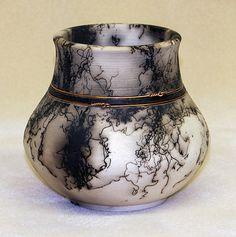 Copper banded tulip vase by DakotaBones on Etsy, $150.00