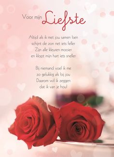 Kaarten - valentijn - romantisch | Hallmark Quotes Gif, Qoutes, Love Quotes, I Love You Words, Love Others, Love Of My Live, Dutch Words, Good Night Greetings, Bad Life