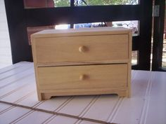 Wood Box/unfinished Wood/hand Made Jewelry Box/unfinished Wood Box With…