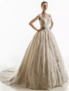 Off The Shoulder Ball Gown Wedding Dresses 2018 Jillian Bridal Cap Sleeves Sweetheart Neckline Heavily Embellished Bodice Chapel Train Wedding Dresses For Second Marriages Yellow Wedding Dresses From Gonewithwind, $2010.06| Dhgate.Com