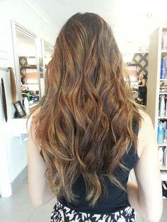 Balayage Hair. Caramel Brown