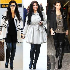 knee high boots - with a coat, casual outfit, jeans