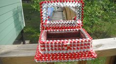 PRISON ART..JEWELRY Box Outsider Art Folk Art por MonaLisaTreasures