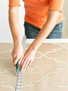 Step 1: Cut How To Apply Wallpaper, Diy Wallpaper, Hanging Wallpaper, Home Reno, Home Repair, Wall Colors, Colours, Diy Projects, Side Board