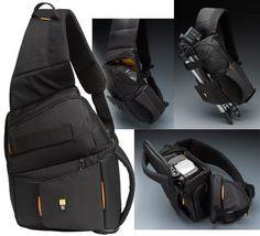 NWT Case Logic SLRC-205 SLR Camera  Black Sling Shoulder Bag Backpack NEW #CaseLogic