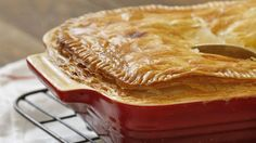 Easy as pie! Chicken and leek pie.