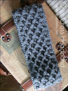 #Crochet Cabled Ear Warmer~ Done! {With These 2 Hands Link-Up # 2}
