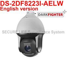 在庫DS-2DF8223I-AELW英語バージョン2mp超低光スマートptzカメラ、ダークファイターでワイパー
