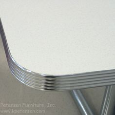 Diner Table Polished, Grooved Aluminum Edge
