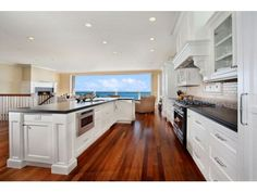 Spacious counters, built-in microwave, gas stove, double oven
